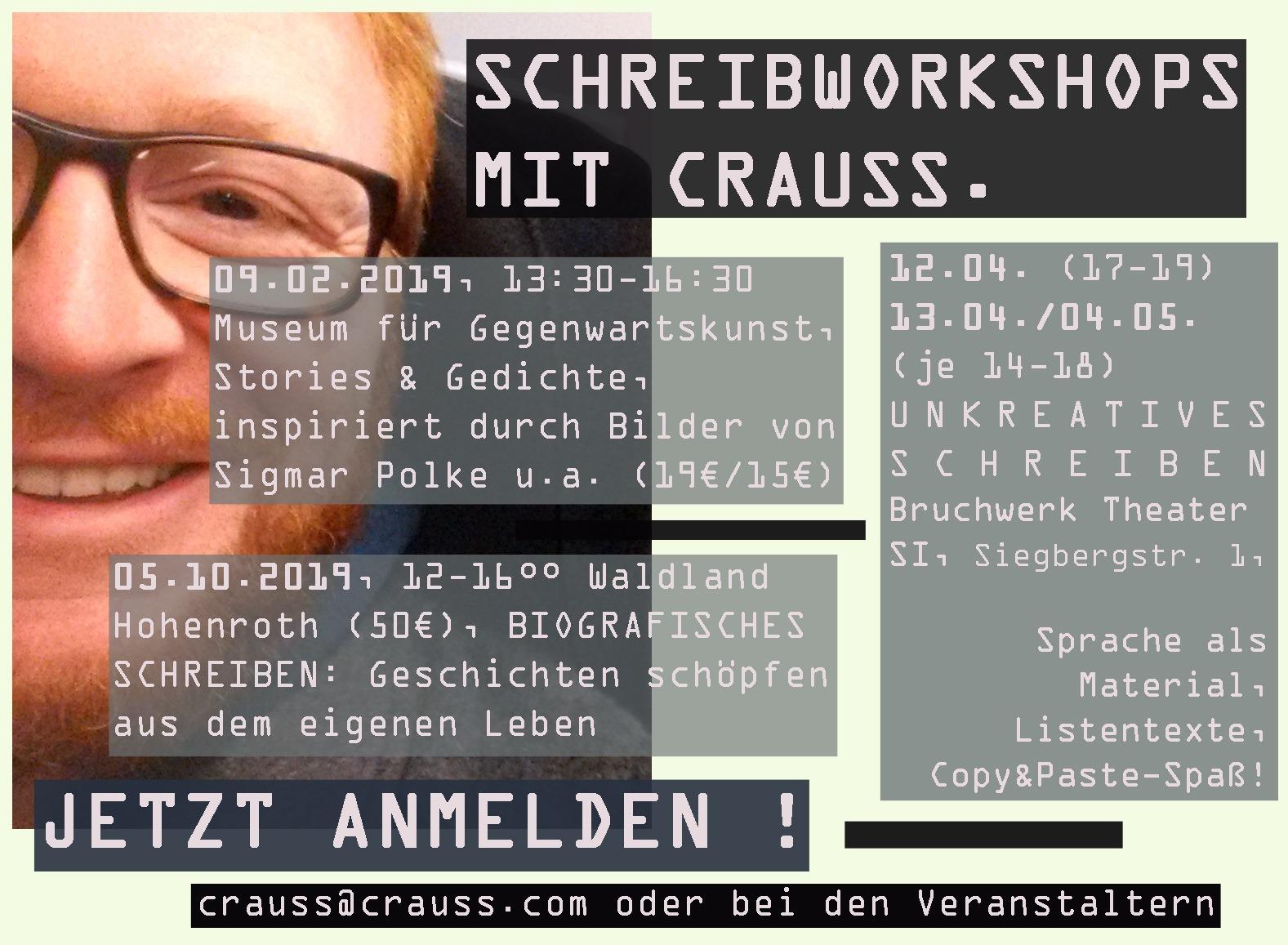 Workshops mit Crauss 2019