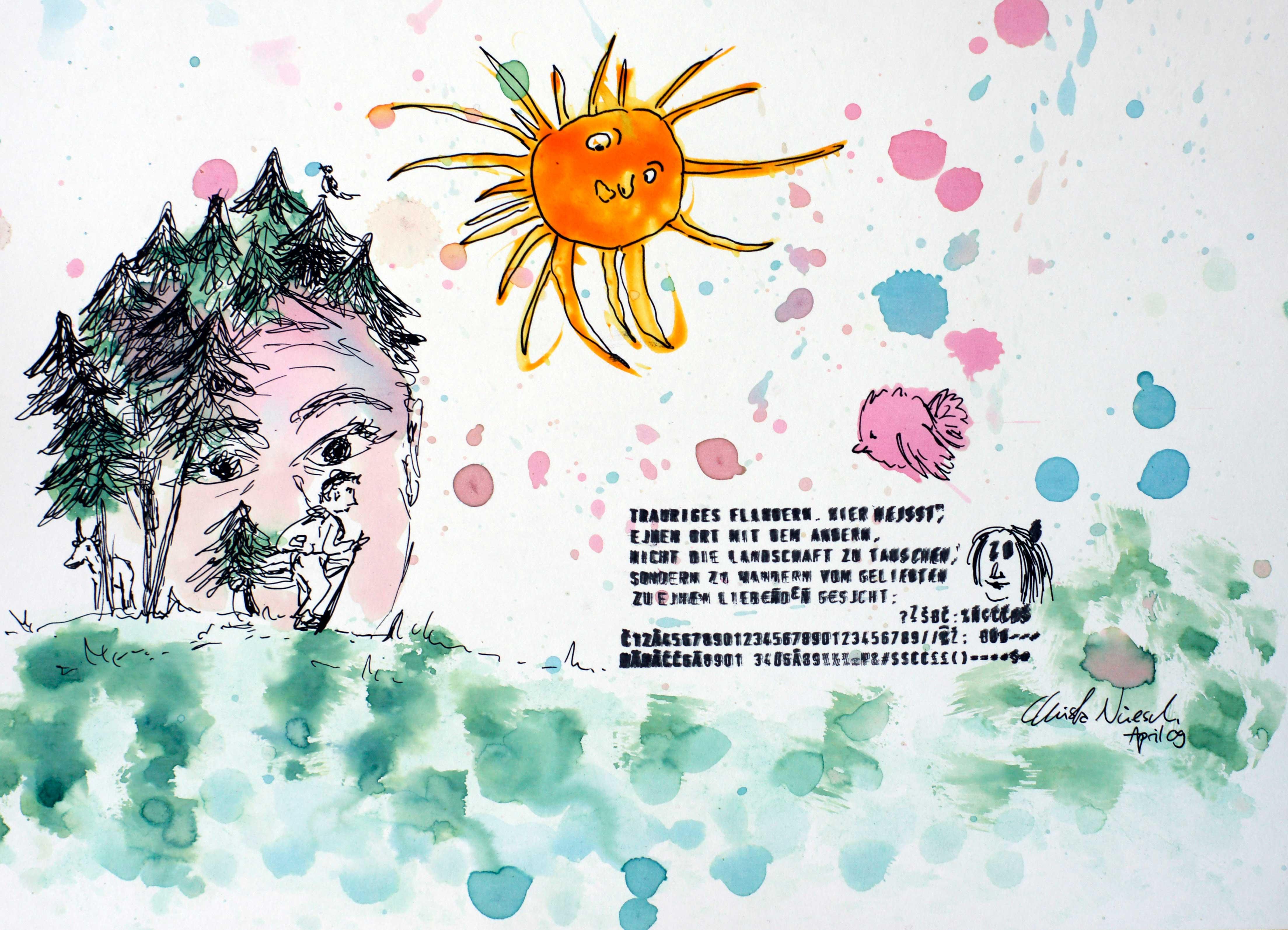 trauriges flandern, illustration Christa Nüesch